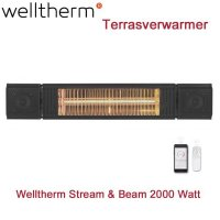 Welltherm Stream & Beam Terrasverwarmer 2000