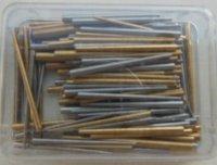 Voorsteek stiften, conische pennen diverse maten.