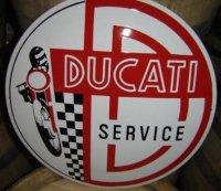 Groot emaillen Ducati service reclame bord