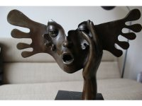 Bronzen Beeld \'Angst\' Salvador Dali Gesigneerd