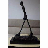 Bronzen Brons Beeld Giacometti Lopende Man