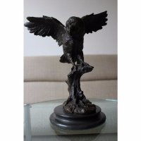 Bronzen Brons Beeld Uil Vogel naar