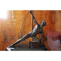 GERESERVEERD Bronzen Beeld Man Art Deco