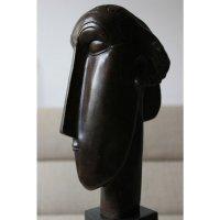 Bronzen Beeld Hoofd Vrouw naar Modigliani