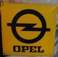 Opel emaille garage reclame bord dealer