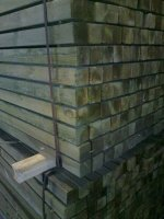Geimpregneerde palen 70x70 verschillende lengtes