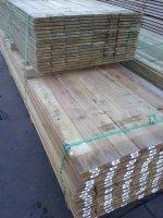 Geimpregneerde planken 18mm dik 140mm breed