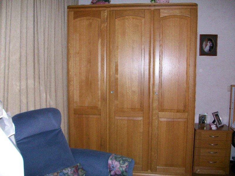 blank eiken 1 persoons slaapkamer