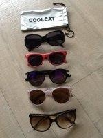 5 zonnebrillen waaronder een Rayban 4126