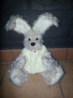 Handgemaakt konijn.