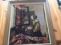 Aangeboden: Geborduurd schilderij € 10,-