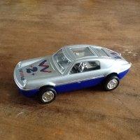 Grijze speelgoed autootje kunststof