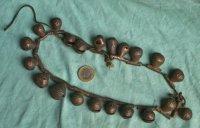Ketting met Yoruba bronzen belletjes -