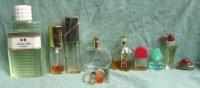 9 flesjes parfum vol en leeg