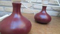 2 leuke keramische bol-vorm-lampen-voetjes