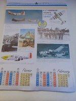 Kalender met beroemde gevechtsvliegtuigen uit W.O.