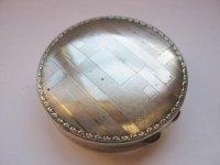 Art Deco poederdoos, zilver, compleet