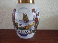Antiek Taback-Pot, hg.25 cm. en rond