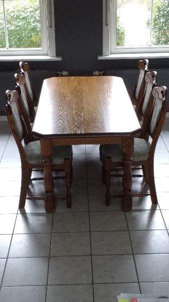 Eetkamerset 6 Stoelen.Prachtige Eiken Eettafel 6 Stoelen Te Koop Aangeboden Op
