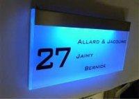 LED verlichte naamborden Naamplaatprint.nl
