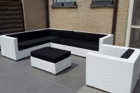 Loungeset lounche set tuin terras wit