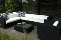 Loungeset lounche set terras tuin zwart
