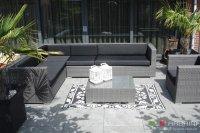 Loungeset lounche set terras tuin grijs