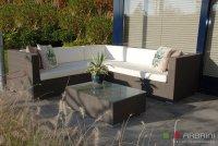 Loungeset lounche bank terras tuin bruin
