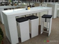 Loungeset lounche bar tafel set terras