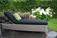 Loungebed lounche ligbed terras tuin rondwicker