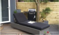 Loungebed lounche ligbed tuin terras grijs