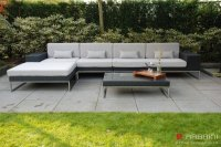 Loungebank lounche set terras tuin zwart