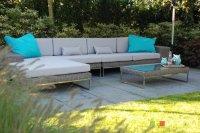 Loungebank lounche set terras tuin rond
