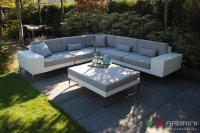 Loungebank lounche hoek bank terras wit