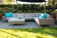 Loungebank lounche hoekbank terras tuin rond