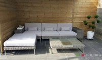 Loungebank lounche set terras tuin rond
