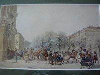 Wilhelm Heuer druk paarden sleerit 1860