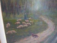 Fred Kocks Olieverf schaapherder schapen hond