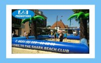 Volleybal veld opblaasbaar verhuur beachvolleybal attractie