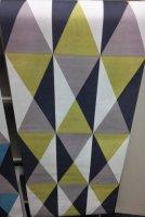 Vliesbehang ruit lime12st-ruitblauw8st-prijs per stuk