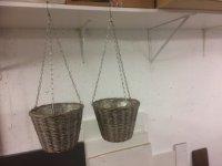 Set van 2 stevige plantenhangers in