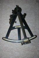 Antieke octant (vgl sextant) in ebbenhout