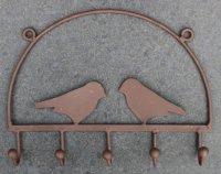 Grappig metalen kapststokje met 5 haken