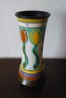 Aangeboden: Plateel / Platelen Vaas - Internat. Bloemenfeest 1925, H & J Lamp Haarlem. € 40,-