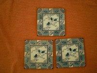 3 Engelse Handbeschilderde Tegels