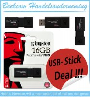 Aangeboden: Kingston DataTraveler 100 G3 - USB-stick - 16 GB of 64GB € 10,-