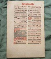 Antieke kerkmuziek - Missaalblad van anno