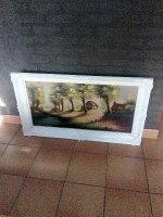 Landelijk schilderij op doek.