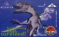 Lost World Jurassic Parc telefoonkaart x