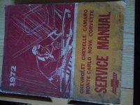 1972 Service Manual Chevrolet Corvette &
